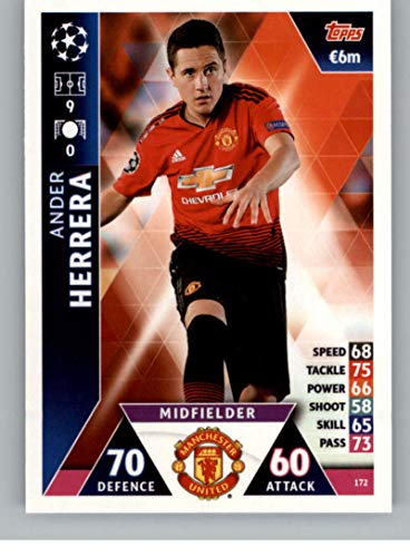 2018-19 Topps UEFA Champions League Match Attax #172 Ander Herrera Manchester United FC Official Futbol Soccer Card