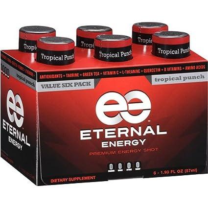 Eternal Shot de energía Tropical Punch Flavor con, 25 ...