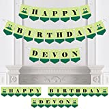 Custom Twins Two Peas in a Pod Caucasian - Personalized Birthday Party Bunting Banner & Decorations - Happy Birthday Custom Name Banner