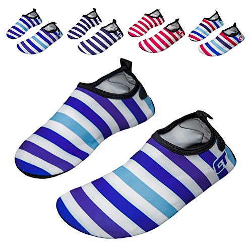 norocos Boys Lightweight Water Shoes Soft Barefoot Shoes Quick-Dry Aqua Socks For Girls Beach Swimming Surf Pool Exercise (Toddler Blue Light Footwear)