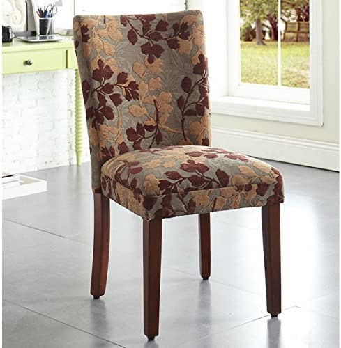 HomePop Classic Sage Leaf Pattern Fabric Dining Chair 19″ Wide x 23.5' deep x 38″ high