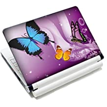15 15.6 inch Colorful Butterfly Laptop Notebook Vinyl Art Decal Skin Sticker Protector Cover for Apple MacBook Pro 15/New Macbook Pro Retina/HP Pavilion ENVY 15/HP Pavilion dv6 g6 series/Dell inspiron/Sony VAIO/Samsung ATIV Book/Acer Aspire/LENOVO ideapad IBM/Toshiba Satellite(Included 2 Wrist Pad)