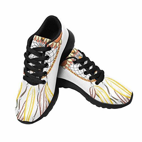 Interestprint Femmes Jogging Running Sneaker Léger Aller Facile Confort De Marche Sport Chaussures De Course Owl Multi 1