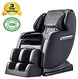 Electric S-Track Full Body Massage Chair with Bluetooth Speaker, Shiatsu Massage Recliner