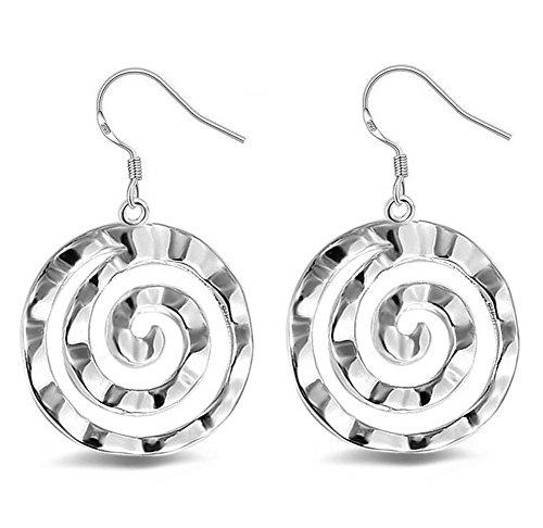 DVANIS 1Pair Woman Creative Jewellery Items Popular Silversmith Earrings Pendants Accessories Lollipop Shape Circle Jewelry Gift - Crystal Lollipop Pendant