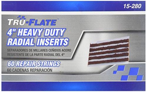 Tru-Flate 15-280 Steel Belted Radial Tire Repair Insert/Plug - 4'' Long,60 Pack by Tru-Flate