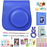 For Fujifilm Instax Mini 9 Accessories Bundle with PU Leather Case, Acrylic Magnet Frame, Filter& & Other Accessories, also Fit for Fujifilm polaroid instax mini 8 8+ - Cobalt Blue, By SAIKA