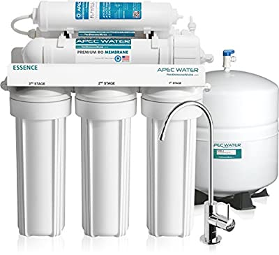 APEC Top Tier Alkaline Mineral Ultra Safe Built in USA Reverse Osmosis Drinking Water Filter System Ph+ (ESSENCE ROES-PH75)