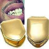 Onwon 2 Pieces 14K Plated Gold Grillz Hip Hop Top