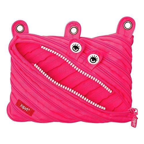 - ZIPIT Monster 3-Ring Pencil Case, Pink