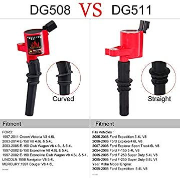 DG511 IGNITION COIL 8PACK FOR FORD F150 EXPEDITION 2004 2005 2006 2007 2008 5.4L