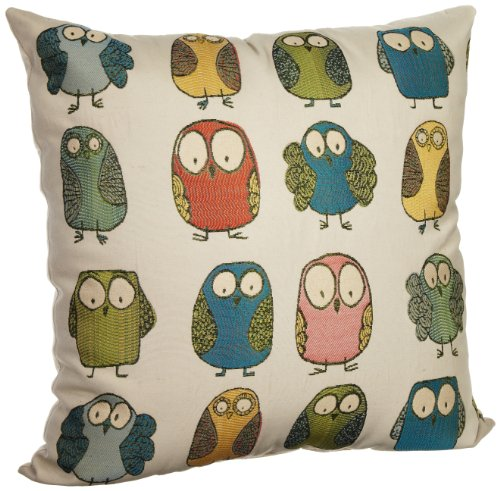 Brentwood Give a Hoot 20-Inch Pillow, Multi
