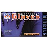 Permatex 09185 Large Disposable Nitrile Gloves, Box of 100
