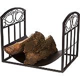 "Trademark Innovations Wood-Rack 18"" Log Bin and Holder-Scroll Design"