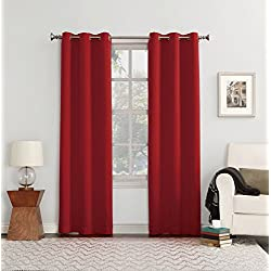 "Sun Zero Easton Blackout Energy Efficient Curtain Panel,Red,40"" x 84"""