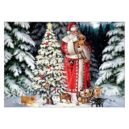 ダイヤモンド絵 DIY ダイヤモンドペイン カラービーズストーン画 クリスマス 飾り サンタクロース ダイヤモンドアート モザイクアート 刺繍キット ラインストーン刺繍絵画 クロスステッチアート 手工芸 癒し プレゼント 贈り物 手作り 壁飾り 防水 Prosperveil