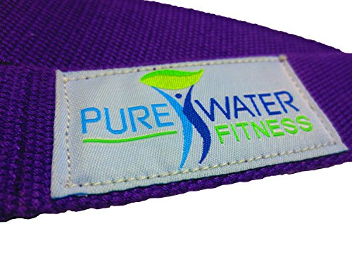 Yoga Mat Strap Sling Harness Belt With Adjustable Double D-Ring Carrying and Stretching Band (Flexibility, Rehabilitation) Doubles As Carrier And Stretch Band - PureWater Fitness (purple)