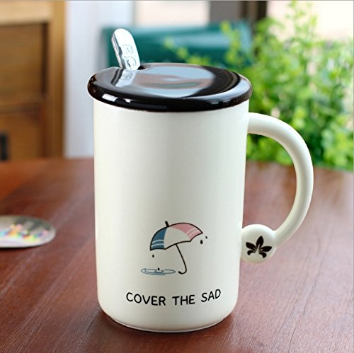 GTVERNH-Creative Personality New Korean Life Style Ceramic Cup Matt Mark Business Gifts Tea CupC
