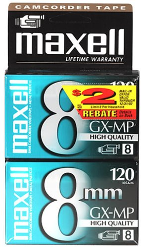Maxell P6-120 GX-MP High Quality Camcorder Tapes, 2 Pack