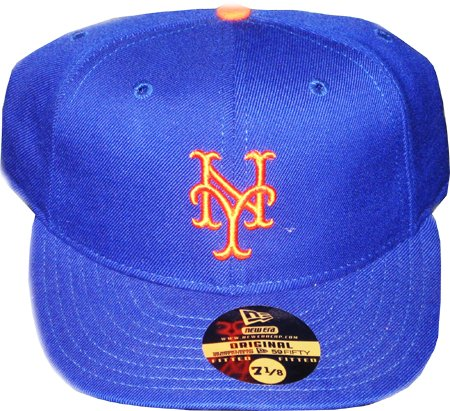 056de6c64f7bb Vintage New York Mets Blue & Orange New Era 59/50 Fitted Hat - Size ...