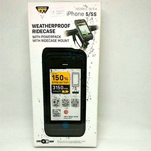 Topeak RideCase Iphone 5 Waterproof + Battery + Holder TT9839B blue blue by TOPEAK (Image #1)