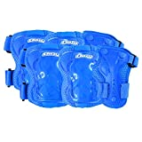 Crazy Skates Blue Kids Protective Gear Set for Rollerblading, Roller Skates, Skateboards and Cycling - Includes Knee, Elbow and Wrist Pads