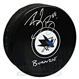 Brent Burns San Jose Sharks Signed Autographed Burnzie Inscribed Hockey Puck