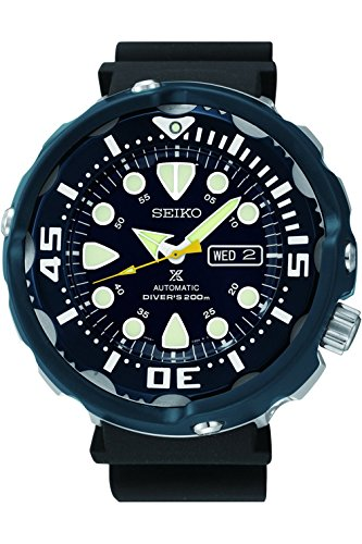 SEIKO SRP653K1,Men's Prospex Automatic,Rubber Strap,Blue Hard Coat,200m WR,SRP653