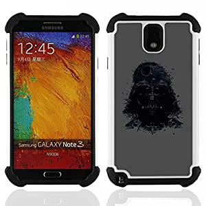- Darth Lord/ H??brido 3in1 Deluxe Impreso duro Soft Alto Impacto caja de la armadura Defender - SHIMIN CAO - For Samsung Galaxy Note3 N9000 N9008V N9009