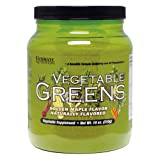 ULTIMATE NUTRITION VEGETABLE GREENS, GOLDEN MAPLE FLAVOR, 510 GRAMS, Tub