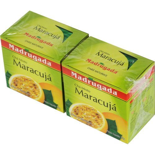 Passion Fruit Tea - 0.5 oz (10 tea bags) | Chá de Maracujá Madrugada - 15g (10 sachês) - (PACK OF 02)
