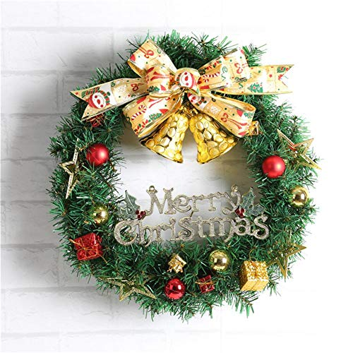 12'' Ribbon Bell Christmas Wreath Christmas Tree Decoration Suitable for Home Window Shopping Mall Hotel Decoration PendantWreath Holiday Supplies by Lamptti