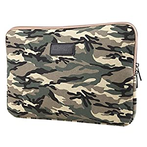 Baymate Unisex Canvas Laptop Sleeve Camouflage Pattern Style Bag 11.6/12/13/14/15 Inch