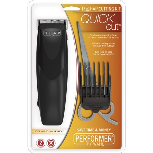 Wahl 9314-900 Quick Cut Performer, 12 Piece Haircutting Kit