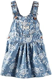 OshKosh B\'gosh Baby Girls\' Denim Print Jumper (Baby) - Floral - 3 Months