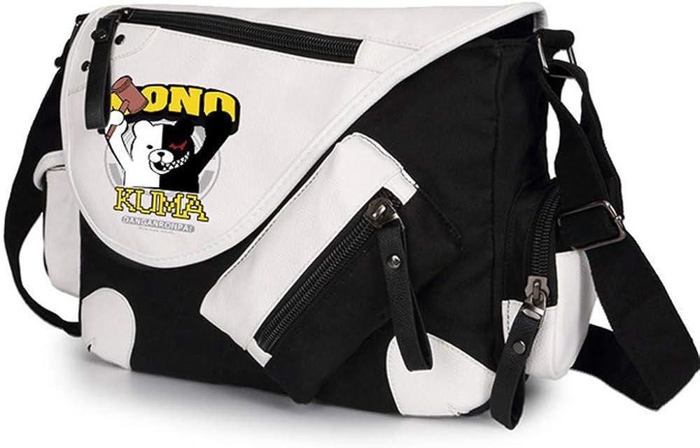 Japanese Anime Danganronpa Monokuma Cosplay Satchel Messenger Bag Crossbody bag Men Women