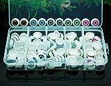 100pcs/box 12mm Doll Eyeballs Half Round Acrylic Eyes for DIY Doll Bear Crafts