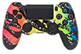 Rainbow Splatter PS4 Custom Controller, HAND PAINTED & HYDRO DIPPED, UN-MODDED from Custom Controllerzz