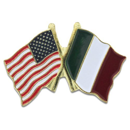 Double Lapel Pin USA on Left and Italy on (Double Lapel Pin)