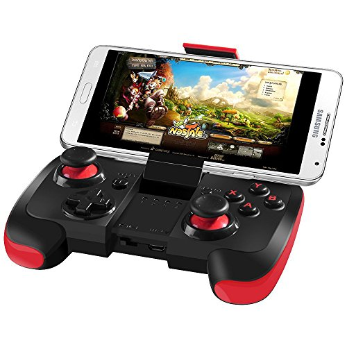 BEBONCOOL Wireless Bluetooth Game Controller for Android Phone / Tablet / Samsung Gear VR/ Game Boy Emulator(Red)