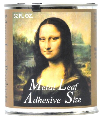 (Speedball Mona Lisa Metal Leaf Adhesive For Gold, Silver Leafing - Water-Based, Made in USA - 32 Ounces)