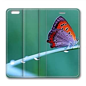 Natural Butterfly Animal Leather Cover for iPhone 6 Plus by Cases & Mousepads