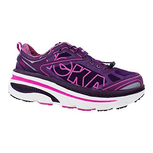 Hoka One One Bondi 3 Running Shoe - Womens Plum/White/Fushia, 7.0