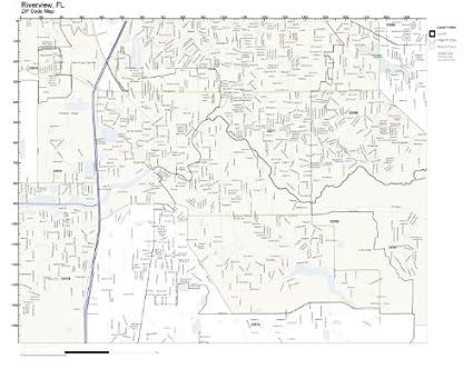 Amazon.com: ZIP Code Wall Map of Riverview, FL ZIP Code Map