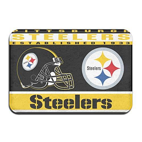 - Dalean Pittsburgh Steelers Anti-Sliding Door Mat Floor Mat,Do Not Fade,15.75inx23.62in,Suitable Indoor Floor MATS Such As Entrance, Bathroom,Bedroom,Toilet,Etc
