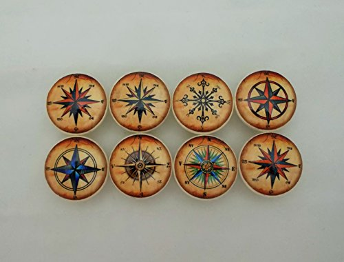 Set-of-8-Star-Compass-Rose-Cabinet-Knobs