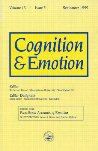 Functional Accounts of Emotion: A Special Issue of the Journal Cognitiona and Emotion (Special Issues of Cognition and E