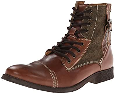 Amazon.com | Steve Madden Men's Fragments Combat Boot, Tan ... Steve Madden Combat Boots Men