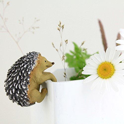 Top Collection Miniature Fairy Garden Hedgehog Flower Pot Hugger