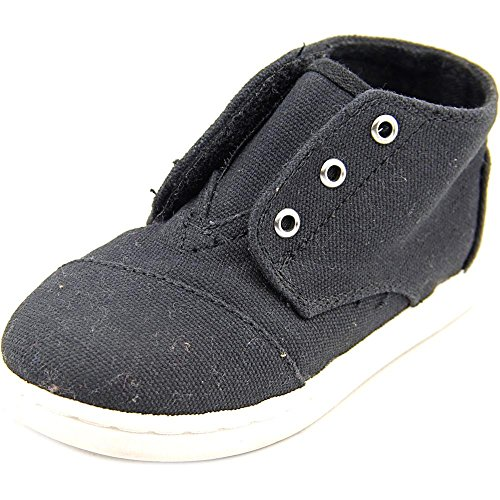 Toms Paseo-Mids Black Canvas 10002660 Tiny (Toms For Toddlers On Sale)